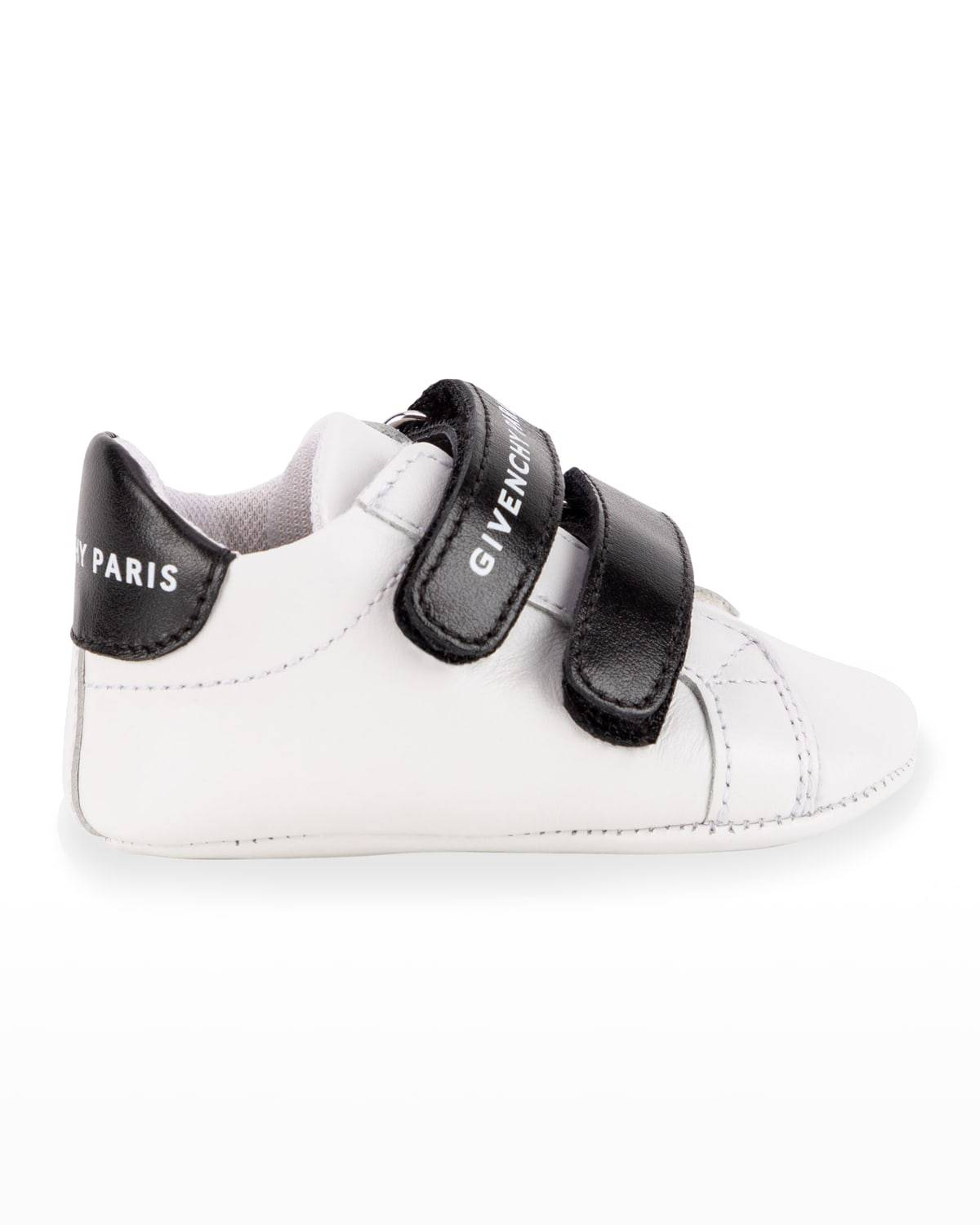 Kid's Bicolor Leather Low-Top Sneakers, Baby Sizes 3M-12M - Size: 19EU (9-12M US) - 10B WHITE
