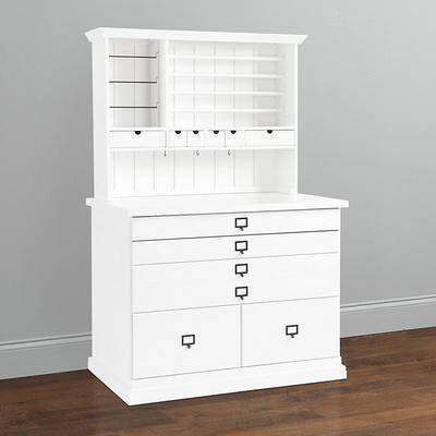 Ballard Designs Original Home Office Craft Station with Hutch - Ballard Designs