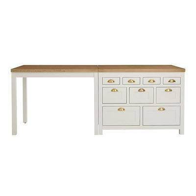 Ballard Designs Millstone Kitchen Island & Counter Height Table - Ballard Designs