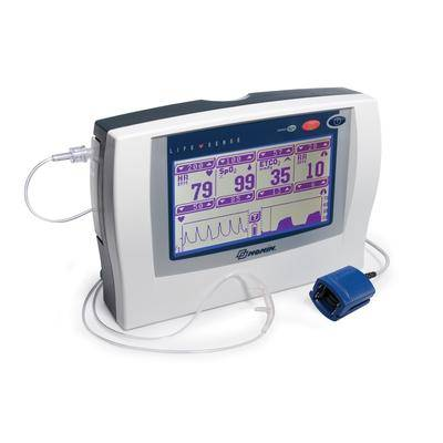 Nonin Medical LifeSense Tabletop Capnography EtCO2 and Pulse Oximetry Monitor