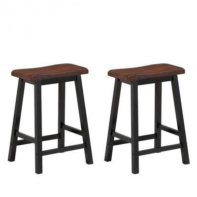 "Costway ""Costway 24"""" Height Set of 2 Home Kitchen Dining Room Bar Stools-Coffee"""