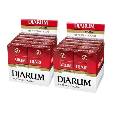 Djarum Special Blend Natural Filtered Cigarillo Clove 2-Fer - PACK (240)