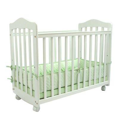 """L.A. Baby """"37"""""""" x 19 1/2"""""""" x 26"""""""" White Original Bedside Manor Cradle - L.A. Baby CW-35-W"""""""