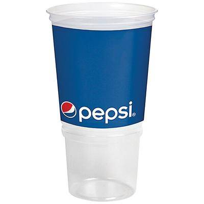 WebstaurantStore 32 oz. Economy Car Cup with Pepsi Design and Red Lid - 504/Case