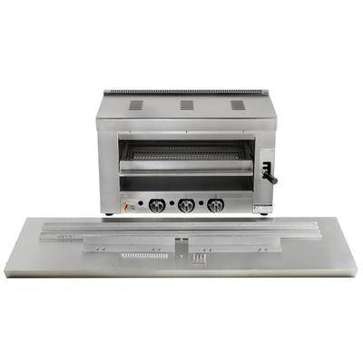 "Cooking Performance Group ""Cooking Performance Group S-36-SB-N 36"""" Natural Gas Infrared Salamander Broiler with 60"""" Range Mounting Bracket - 36,000 BTU"""