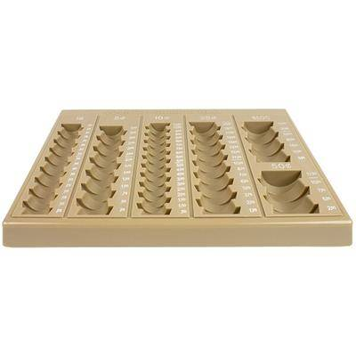 MMF Industries 221611003 Countex II Sand Coin Tray with 6 Compartments