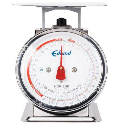 "Edlund ""Edlund HDR-2DP 32 oz. Stainless Steel Portion Scale with 8 1/2"""" x 8 1/2"""" Platform"""
