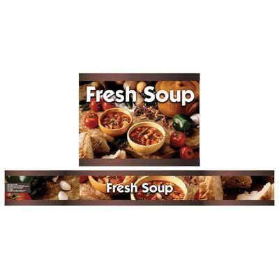 Vollrath 720200103 Full Size Soup Merchandiser Base with Menu Board and Kitchen Graphics - 120V, 1000W