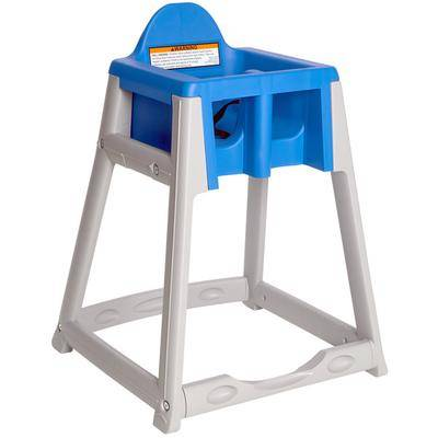 Koala Kare Products Koala Kare KB977-04 KidSitter Grey Assembled Convertible Plastic High Chair with Blue Seat