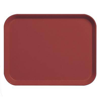 "Cambro ""Cambro 3253CL675 Camlite 13"""" x 21"""" Steel Red Tray - 12/Case"""