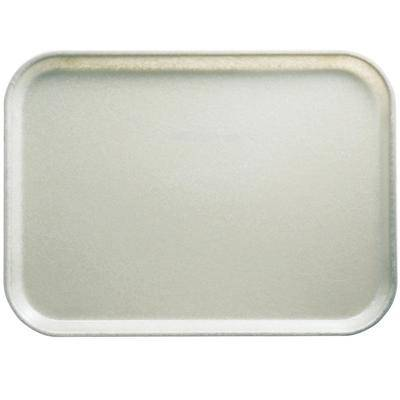 "Cambro ""Cambro 3853101 14 3/4"""" x 20 7/8"""" (37,5 x 53 cm) Rectangular Metric Antique Parchment Customizable Fiberglass Camtray - 12/Case"""