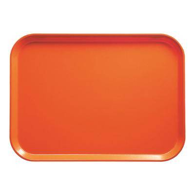 "Cambro ""Cambro 1014220 10 5/8"""" x 13 3/4"""" Rectangular Citrus Orange Fiberglass Camtray - 12/Case"""