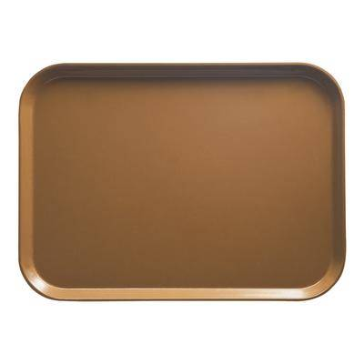 "Cambro ""Cambro 810508 8"""" x 9 7/8"""" Rectangular Suede Brown Customizable Fiberglass Camtray - 12/Case"""