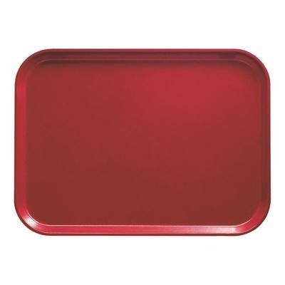 "Cambro ""Cambro 3753221 14 9/16"""" x 20 7/8"""" (37 x 53 cm) Rectangular Metric Ever Red Customizable Fiberglass Camtray - 12/Case"""