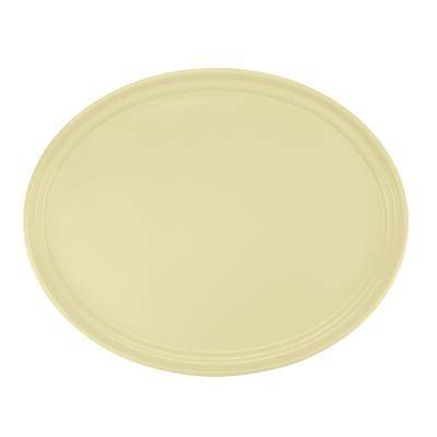"Cambro ""Cambro 2500536 19 1/4"""" x 24"""" Oval Lemon Chiffon Customizable Fiberglass Camtray - 6/Case"""