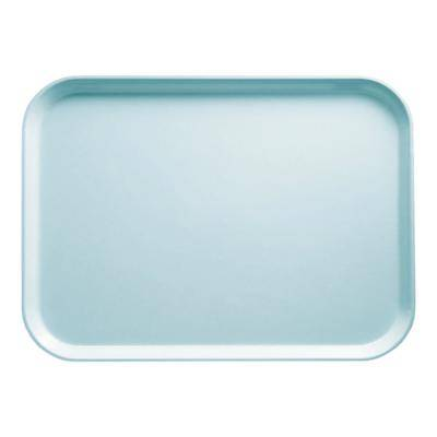 "Cambro ""Cambro 16225177 16 1/2"""" x 22 1/2"""" Rectangular Sky Blue Customizable Fiberglass Camtray - 12/Case"""