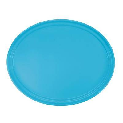 "Cambro ""Cambro 2500518 19 1/4"""" x 24"""" Oval Robin Egg Blue Customizable Fiberglass Camtray - 6/Case"""