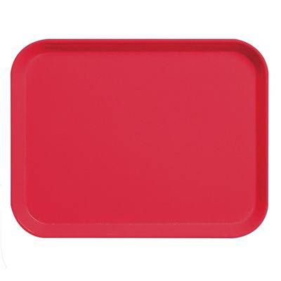 "Cambro ""Cambro 3253CL163 Camlite 13"""" x 21"""" Red Tray - 12/Case"""
