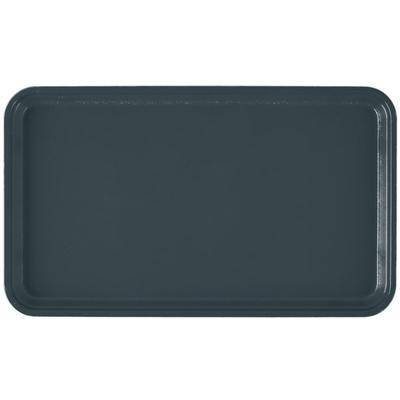 "Cambro ""Cambro 915401 8 3/4"""" x 15"""" Rectangular Slate Blue Customizable Fiberglass Camtray - 12/Case"""