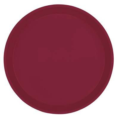"Cambro ""Cambro 900522 9"""" Round Burgundy Wine Customizable Fiberglass Camtray - 12/Case"""