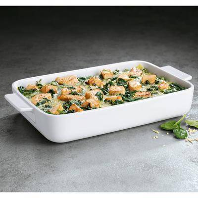 "Villeroy & Boch 13-6021-3273 Cooking Elements 11 3/4"""" x 7 7/8"""" White Porcelain Rectangle Baking Dish - 6/Case"""