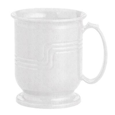 Cambro MDSM8480 Speckled Gray Insulated 8 oz. Mug - Shoreline Meal Delivery System - 12/Pack