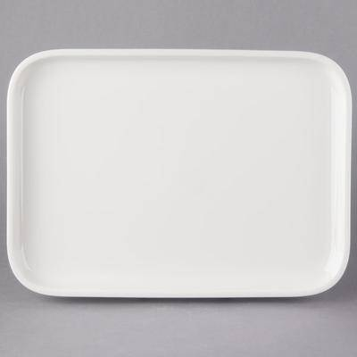 "Villeroy & Boch 13-6021-3015 Cooking Elements 14"""" x 10 1/4"""" White Porcelain Rectangular Serving Plate / Lid - 6/Case"""