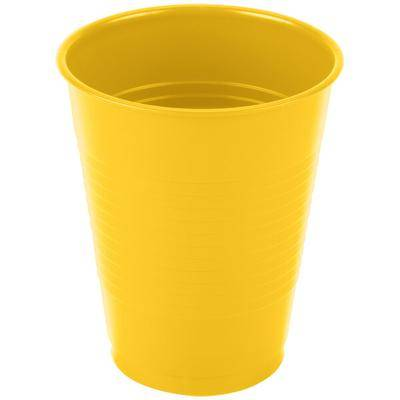 Creative Labs Converting 28102181 16 oz. School Bus Yellow Plastic Cup - 240/Case