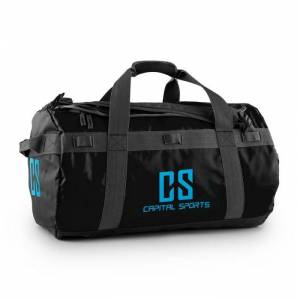 CAPITAL SPORTS Journ Bolsa de deporte 60l Cilíndrica Impermeable Robusta Negro (FIT23-Journ)