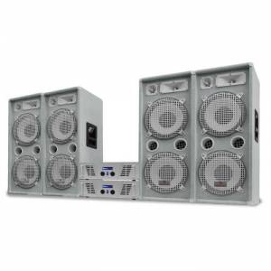 """Electronic-Star White Star Series """"Artic Ice"""" Equipo sonido profesional DJ 4000W (PL-AU-WH-4000-4.0)"""