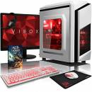 "VIBOX Pyro RL560-281 PC Gaming Computer con Voucher di Gioco, 22"" HD Monitor (4,1GHz Intel i5 Quad-Core Processore, Radeon RX 460 Scheda Grafica, 16GB DDR4 RAM, 1TB HDD, Senza Sistema Operativo)"