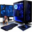 "VIBOX Nebula GS550T-46 PC Gaming Computer con Voucher di Gioco, 22"" HD Monitor (3,5GHz Intel i5 Quad-Core Processore, Nvidia GeForce GTX 1050 Ti Scheda Grafica, 8GB DDR4 RAM, 2TB HDD, Senza OS)"