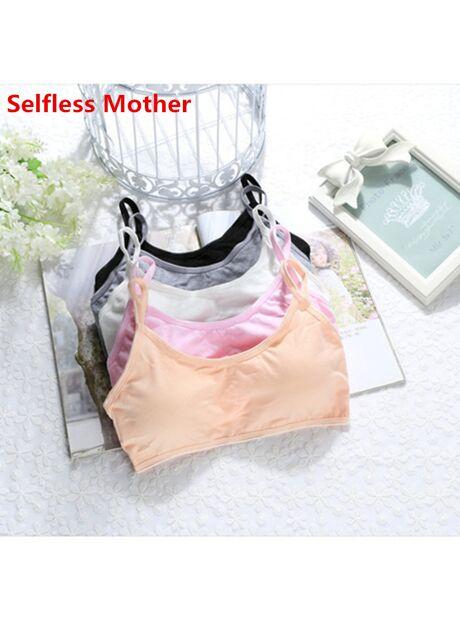 9a7452fe29e45 5pcs lot Child Cotton Bra For Young Girls Kids Teenage Underwear Wireless Small  Training Puberty