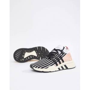 5a12938a Adidas Originals Eqt Support Mid Adv Trainers In Black And Pink - Black