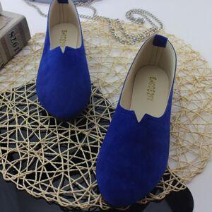 2018 Summer Hot Sale Work Women Shallow Mouth Flats Single Shoes Candy  Color Nubuck Leather Comfortable f329a8de980d