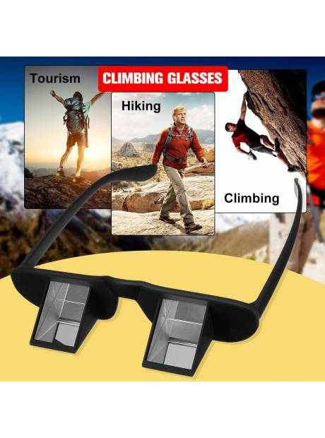 5e37cbc323c5 Climbing glasses mountain equipment Lazy Horizontal Prisma Gafas  Refractivas Goggles Prism Spectacles glasses camping eyewear