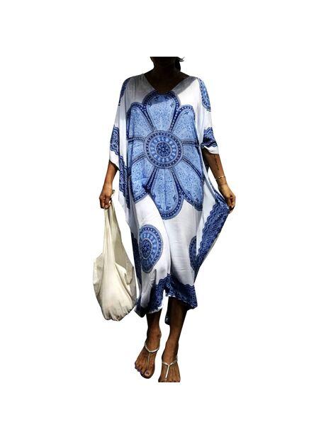 253a5e1e97 Pareo batwing half sleeves beach tunic blouse cover up floral printing for  bikini swim suit swimwear