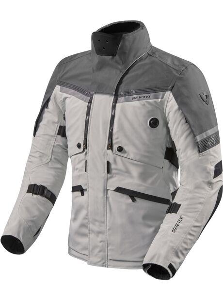 4af90297 Revit Poseidon 2 Gore-Tex Motorsykkel tekstil jakke Svart Grå Sølv S