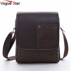 8a943f4e918 Vogue Star 2017 New hot sale PU Leather Men Bag Fashion Men Messenger Bag  small Business