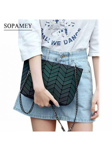 New Bao Bags for women Luminous Chain Lightnig sac bao Bag Diamond Geometry  Shoulder Bags Plain adfe1499cb4d1