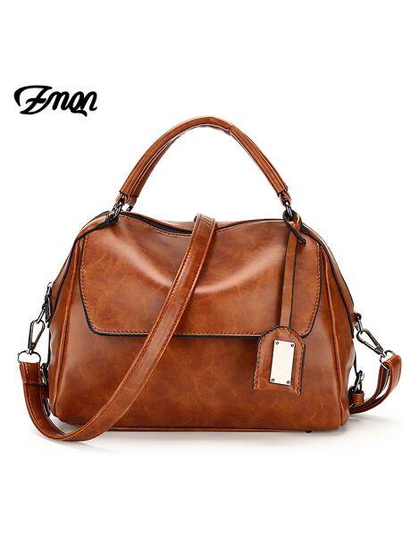 74885cdf6bda ZMQN Women Leather Handbag Brand Shoulder Bag Casual Tote Bag For Female Sac  a Main Vintage