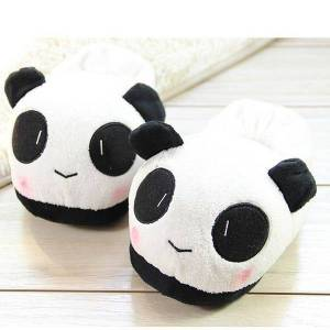 b5816816d Newchic Unisex Cute Panda Cotton Sweet Indoor Slippers Flat Home Shoes
