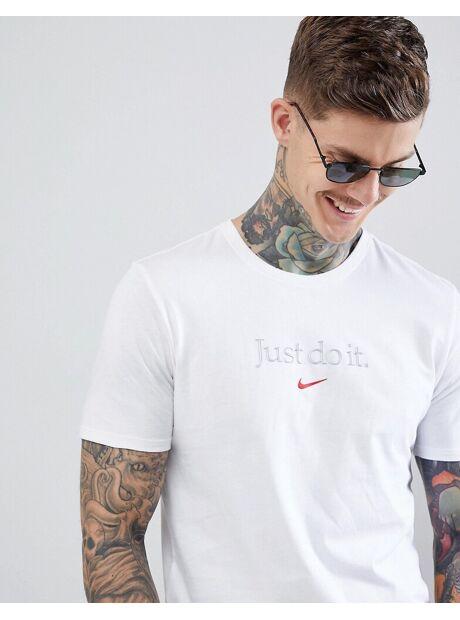6bc51b7b Se TILBUD på Nike Just Do It T-Shirt In White AA6578-100 - White hos ...