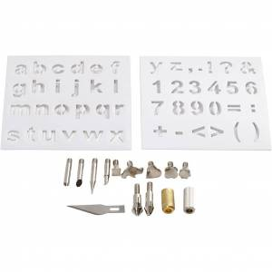 Creativ Company Brændestempler, Diam. 1-15 Mm, 1 Sæt