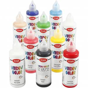 VivaDecor Viva Decor Window Color, Ass. Farver, 10x90 Ml/ 1 Pk.