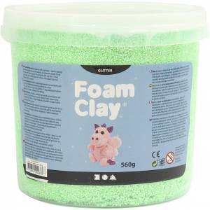 FoamClay Foam Clay®, Glitter, Grøn, 560 G/ 1 Spand
