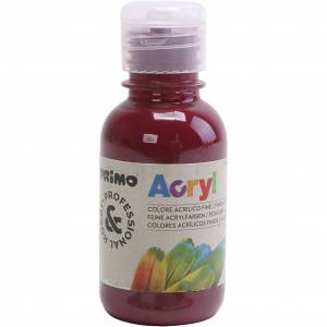 PRIMO- akryylimaali, bordeaux, 125 ml/ 1 pll