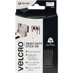 Velcro BORRELÅS® VEL-EC60239 Hook-and-loop tape Stick-on krok og loop pad, Heavy Duty (L x W) 100 mm x 50 mm svart 2 par