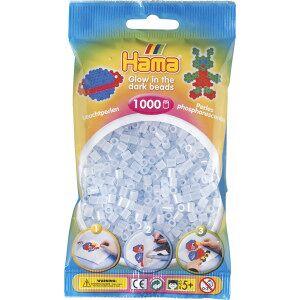 Hama Midi Perler 207-57 Selvlysende Blå - 1000 stk
