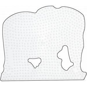 Hama Midi Perleplate Elefant Stor Hvit 16x13,5cm - 1 stk